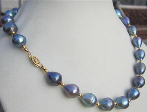 Necklace, gold, 14k Gold, tahitian