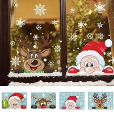 cute, Christmas, Glass, Stickers