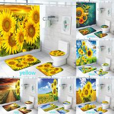 tapeteparasala, Polyester, Bathroom, Sunflowers