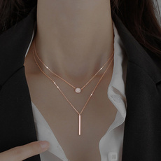 Sterling, clavicle  chain, Square, Jewelry