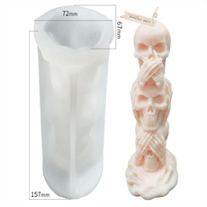ghost, Funny, skull, scentedcandle