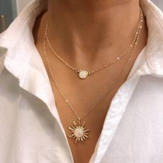 Fashion, Chain, Sunflowers, opals