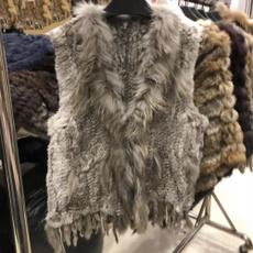 Tassels, fur, Grey, Winter Warm