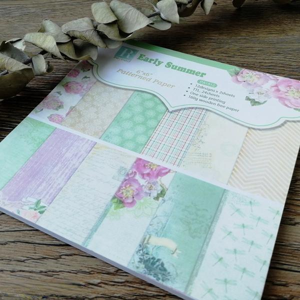 Summer, patternedpaper, printed, Handmade