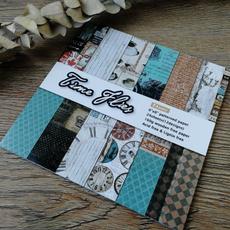 patternedpaper, printed, Clock, Handmade