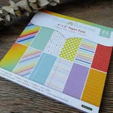 rainbow, patternedpaper, printed, Handmade