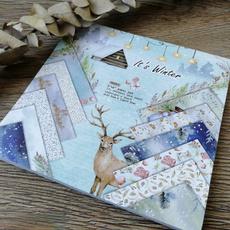 patternedpaper, Winter, printed, Handmade