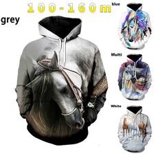 horsehoodie, pockethoodie, Fashion, Long Sleeve