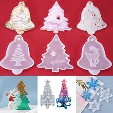 christmasmold, christmasepoxymold, Silicone, christmashangingtag