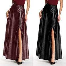 dressforwomen, long skirt, puleatherdres, Umbrella