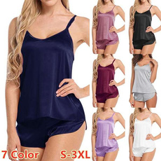 Summer, Vest, Shorts, sexy pajamas