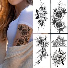 tattoodecal, Flowers, Rose, Beauty