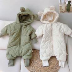 hooded, Winter, newbornjumpsuit, Long Sleeve