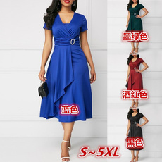 Summer, Fashion, asymmetric, Dress