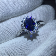 Sterling, DIAMOND, Jewelry, Silver Ring