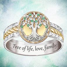 Sterling, crystal ring, Love, zirconring