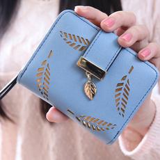 longclutchpurse, leaf, women purse, Hollow-out