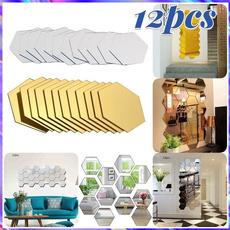 Home & Kitchen, Bathroom, mirrorssticker, Waterproof