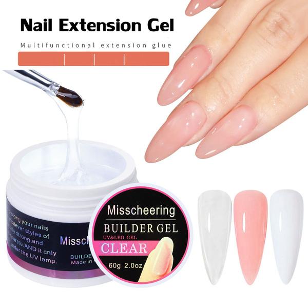 pink, pinkwhiteclear, Beauty, nailextension