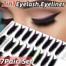 Eyelashes, Eye Shadow, eye, lazyeyemakeupsticker