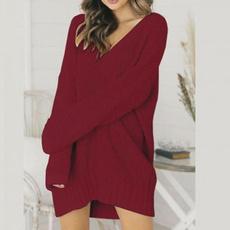 knittedblouse, Fashion, Long Sleeve, Sweaters