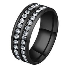 Plus Size, wedding ring, Engagement Ring, Stainless Steel