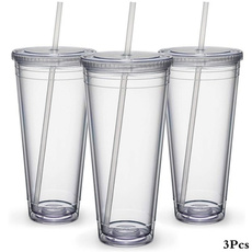 Plastic, Sport, transparentstrawwithlid, Cup