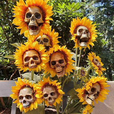 skullflowerpot, halloween hoody, Flowers, Gardening