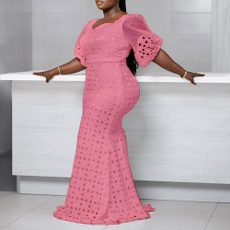 Summer, Plus Size, Lace, africandressesforwomen