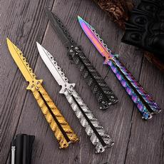 butterfly, Steel, Blade, butterflyknive