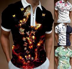 Summer, polo men, Polo Shirts, lapel