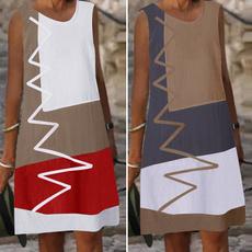 contrastcolordres, Mini, dressesforwomen, Cotton