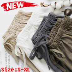 comfortableshort, elastic waist, thinloose, high waist