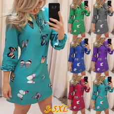 butterfly, buttonup, sleeve dress, Sleeve
