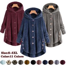Plus Size, Fleece, hooded, fur