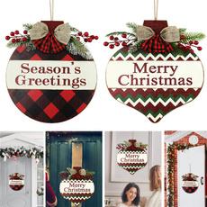 Home & Kitchen, hangingfrontdoorwoodencartoonletterplaque, Door, Christmas