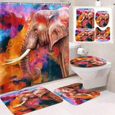 tapeteparasala, Bathroom, Colorful, elephantshowercurtain