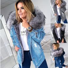 Casual Jackets, Plus Size, Long Sleeve, denim jacket
