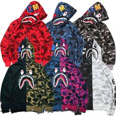 hoodiesformen, Shark, hooded, Zip