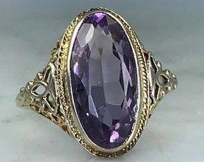 DIAMOND, 925 sterling silver, gold, 18k gold ring