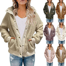 Plush, Loose, Winter, sweater coat