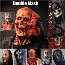latex, masqueradehalloween, horrormask, skull