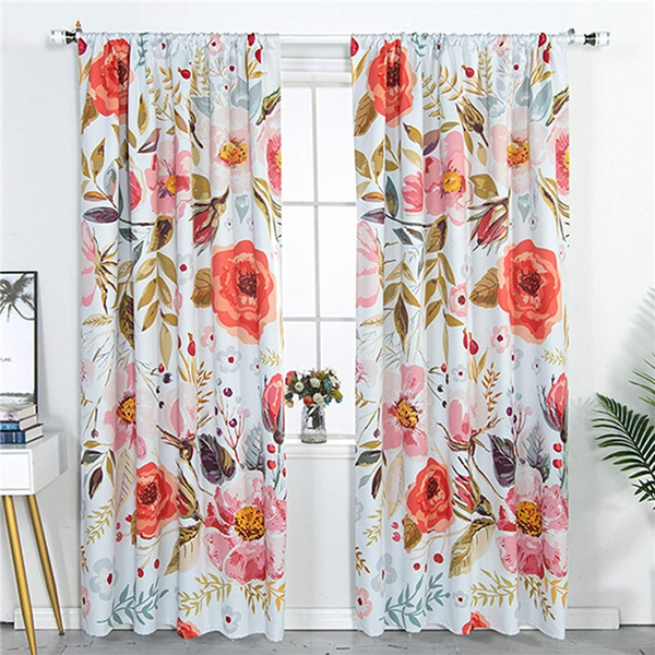 bedroomcurtain, Floral, bedroom, blackoutcurtain