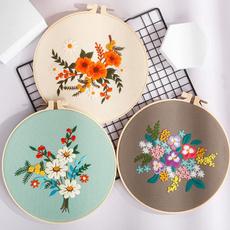 crossstitchkithomedecor, embroideryhoopset, Tool, embroiderykitscenery