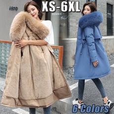 Down Jacket, Plus Size, fur, Waist