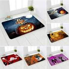 Bathroom, bedroom, halloweenhorrorpatterncarpet, Horror