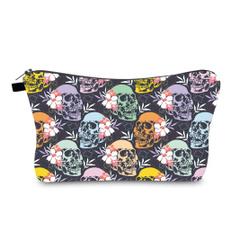 beautifulcosmeticbag, fashioncosmeticbag, Makeup bag, skull