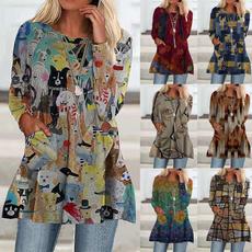 blouse, printedtop, Leggings, Plus Size