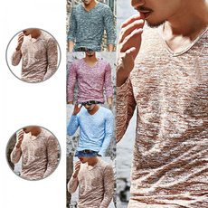 Fashion, Long Sleeve, Men, Autumn Shirts