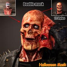scary, masqueradehalloween, skull, latex